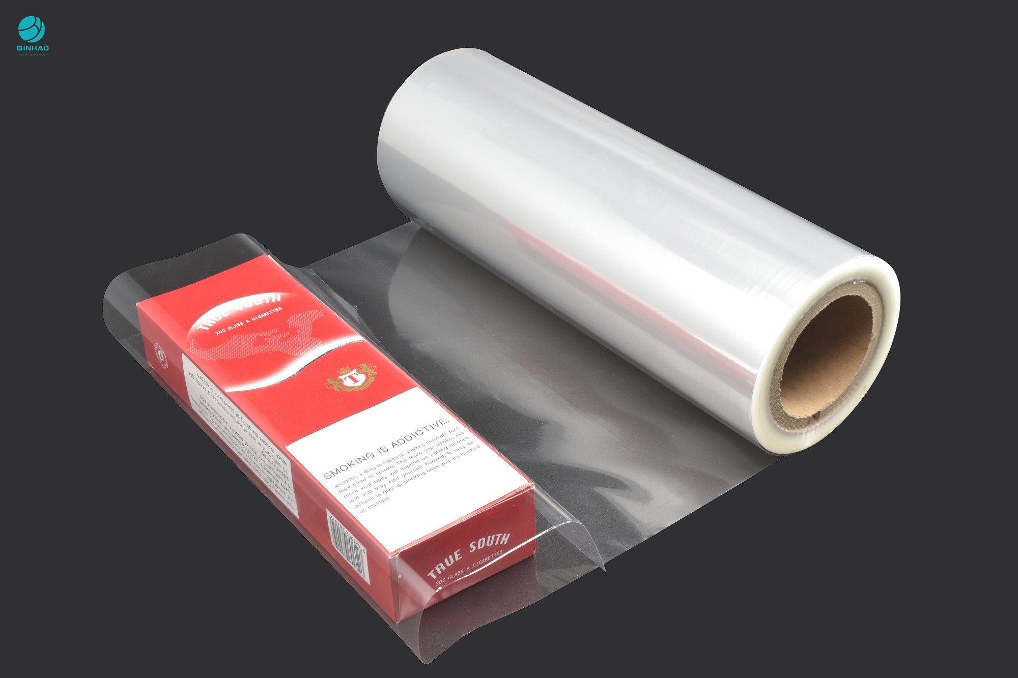 360mm Jumbo Glossy Clear Heat Sealing BOPP Film Roll For Cigarette Box Packaging