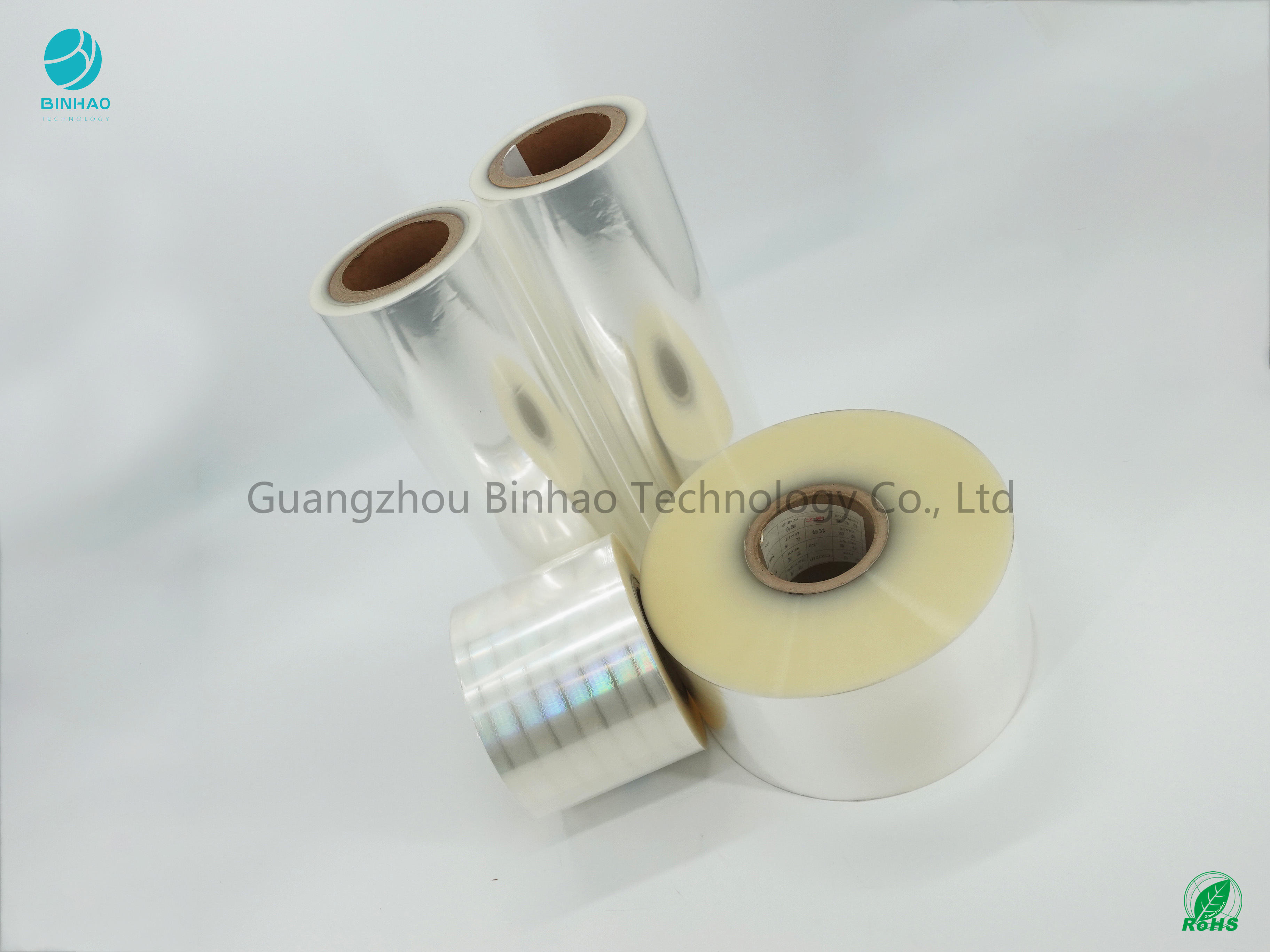 BOPP Film Roll For Tobacco Packaing Strong Tensile No Bubble Wrinkle 5% Shrinkage Rate