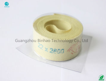 Light Yellow Cigarette Machine Parts , Kevlar Fiber Garniture With High Strength