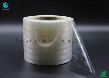 High Shrinkage Rate Holographic BOPP Film With One Side / Corona For Medicine And Cigarette Packaging