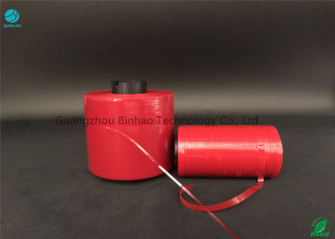 China MOPP Materials Self - Adhesive Tear Tape Easy Colour Red 5mm Width For Carton Box factory