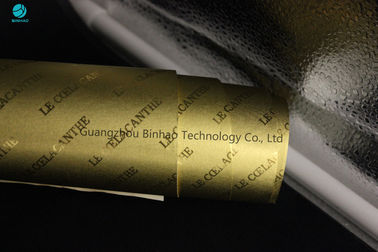 Sheet Cigarette Aluminum Foil Paper In Bright And Matt Gold 83mm For King Size Cigarette Box